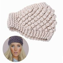 M MISM 2017 Pineapple Needle Knit Woman Warm Headbands Handmade Crochet Stretch Turban Wide Size Hair Band Wool Hair Accessories(China)
