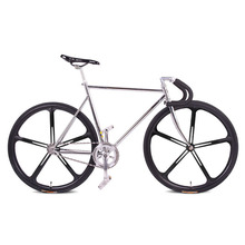fixie Bicycle Fixed gear bike 700C *23C 52cm FRAME vintage Promotion Diy Complete Road Bike, student Bicycle green frameType(China)