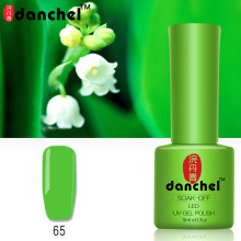 Danchel 9ml Soak Off UV Nail Gel Long Lasting Green Nail Polish Varnish Need Base Top Coat Nail Art Design Gelpolish Primer Lak(China)