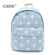 CIKER 2017 new fashion women cancas backpack mochila rucksack shoulder bag printing backpacks for teenage girls cute schoolbags