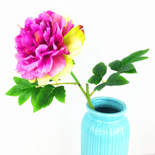 Purple BIG Chinese Herbaceous Peony Decorative Silk Flower Faux Flower Wedding Flower Party Free Shipping(China)