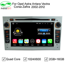 "2 Din 7"" 1024x600 2GB/16GB Quad Core Android 5.1.1 PC Car DVD GPS For Opel Vectra Corsa Zafira Astra Antara Tigra Stereo Radio"