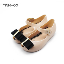 Bow Girls Sandals Mini Melissa Jelly Shoes Princess Shoes High Quality Soft Comfort Toddler Girl Sandals Kids Melissa Shoes