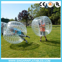 Free shipping 1.0mm TPU 1.8m diameter rubber ball,football zorbing,bubble bumper ball for big heavy players