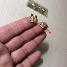 Brass Mini Hinge Decor Door Hinges Wooden Gift Jewelry Box Hinge Fittings for Furniture Hardware+Nail,10*8mm,10Pcs(China)