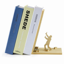 Free Shipping 1Piece Fashion Style The End Bookend Read Books Holder Prop Hold Up Library Sleff Office Table Decoration