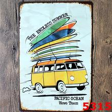 ENDLESS SUMMER BUS Vintage PUB Tin Sign Home Room Decor Wall Painting 20*30 CM