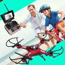 JJRC H8D FPV Drone with Camera 2MP Boys Gift Toys RC Helicopter 5.8G LCD Monitor Quadcopter 2.4Ghz Headless Mode One Key Return