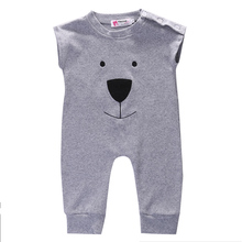 Cute Newborn Baby Girl Boy Bear Fleece Rompers Playsuit Jumpers Outfits(China)