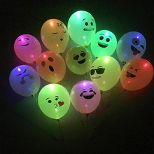 5Pcs LED Balloons 12 Inch Latex Multicolor Lights Helium Balloons Christmas Hollween Wedding Decoration Birthday Party Supplies