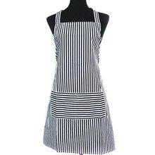 New fashion Blue White Stripes Men Women's Chefs Kitchen Baking Ware Cooking Cook Apron Bib with Pockets