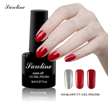 Saroline Colorful Nail Glue Semi-permanent Nails Gel Polish Manicure 8ml Nail Art Manicure Soak Off UV Gel Varnish Supplier(China)