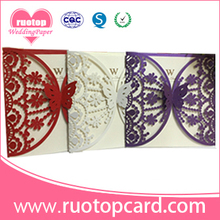 Wedding favor wedding programs butterfly and star shape laser cut wedding invitations wholesale