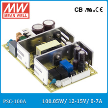 Original Meanwell PSC-100A 100W 12~15V 0~7A security power supply battery charger(UPS function) PCB type