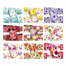 WUF 1 Sheet Optional Water Transfer Nail Art Sticker Watermark Decals DIY Decoration For Beauty Nail Tools