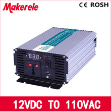 12vdc to 110vac 500W pure sine wave power inverter off grid voltage converter solar inverter inversor MKP500-121