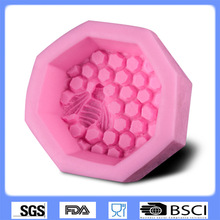 3D silicone fondant mold honeycomb handmade soap mode sugar art tools CD-F583