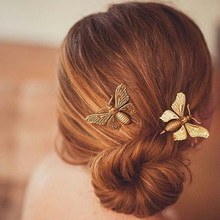 1PC Silver & Gold Beautiful Butterfly Leaf Retro Hairpin Golden Wedding UK Clip Boho Hair Accessory
