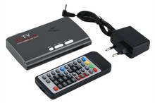 Digital 1080P HD HDMI DVB-T DVB-T2 TV Box Tuner Receiver Converter Dongle with Remote Control , hdtv HDMI + AV +VGA Out