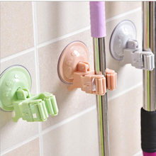 Mop Rack Strong Glue Hook 4PCS Lot Candy Colour Seamless Towel Rack Kitchen Storage Accessories Storage Organizer(China)