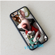 Comic Dog in Toilet with Magazine fashion case cover for iphone 4 4S 5C 5 5S SE 6 6S 6 plus 6s plus 7 7 Plus #EH238