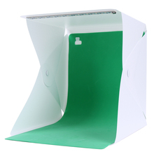 Mini Foldable Light Room Box LED Photo Studio Table Shooting Tent Cube Softbox Lightbox with Backdrops Portable 27.5x24.5x4cm(China)