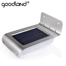 Goodland LED Solar Power Motion Sensor solar garden light Lamp Security Outdoor Lighting garden solar light led solar light(China)
