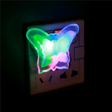 1pcs High Quality New Butterfly Bedroom Night Light Lamp Lovely Home LED Lamp, Room Home Party Plug Decoration(China)