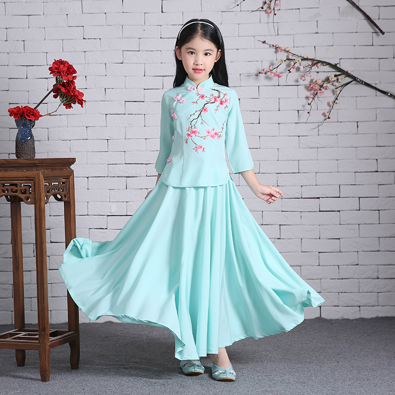 2017 autumn childrens chinese folk costume girls princess qing dynasty dance costme kids ming cosplay costume high quality hanf<br>