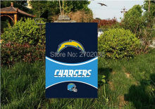 "San Diego Charger National Football Team Garden flag kintted polyester double sides 13""X18"" custom flag Home Deco Indoor Outdoor"