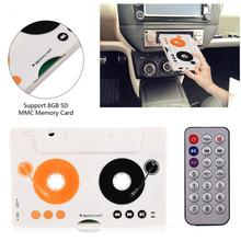 Car Kit Stereo Cassette Tape SD MMC Mp3 Player Converter Adapter with Remote Control(China)