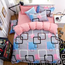Summer Home  Bedding 4 Pcs Quilt Cover Fashion Lattice Style Very Soft Good Quality King Queen Full Twin