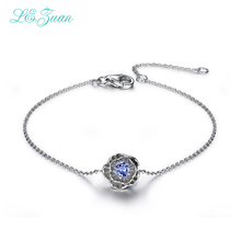 Buy I&zuan 2017 Fashion 925 Sterling Silver Jewelry Bracelets 0.2ct Natural Tanzanite Lotus Flower Bracelets Fine Jewelry women for $30.74 in AliExpress store