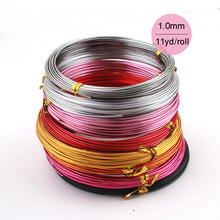 SALE 1mm 18 gauge length 10m 33ft 11yd anodized aluminum round wire dead soft DIY jewelry craft metallic beading wire 20 colors(China)