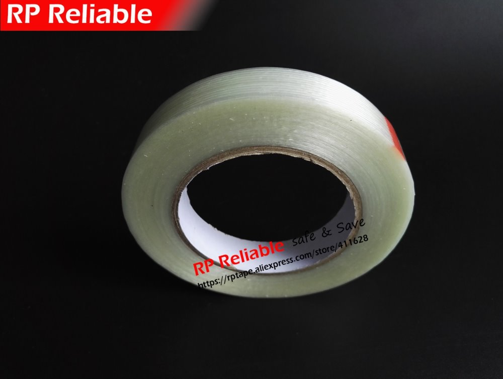 (5mm~100mm width choose), 50meters, Strong Power Fiber Glass Packing Tape for Box Toy Model Case Goods Fasten, Single Adhesive<br>
