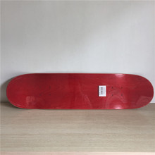 High Quality Professional Canadian Maple Red Colored Blank Skate Board Deck 8.1 Inch Nologo Shape Skate for DIY Skateboard(China)