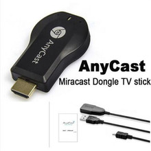 Media Player TV Stick Push Chrome cast Wifi Display Receiver for Dongle Chrome Anycast Air play Free Shipping