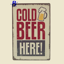 Led Neon Signs Cold Beer Here! Antique Imitation Vintage Metal Tin Signs Iron Painting Bar Pub Garage Home Wall Decor Art Poster