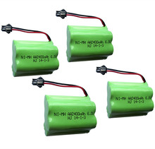 4pcs 6v battery 2400mah ni-mh bateria 6v nimh battery pack 6v size aa rechargeable ni mh for lighting rc car toy electric tools(China)
