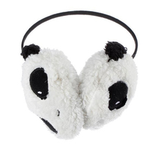 HOT Cute Large Fluffy Fur Plush Panda Earmuffs Winter Ear Warmer Ladies Women Girls