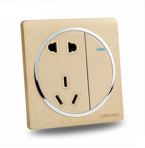 Darling switch electrical switch socket and wall switch socket panel/1 gang 1 way wall switch with 5P Socket<br><br>Aliexpress
