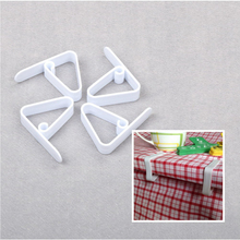 4pcs clip Table Cover Cloth Desk Plastic Skirt Clip For Wedding Party Picnic Portable Clamp Party Wedding Decoration(China)
