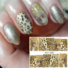 1 Sheets Nail Art Full Wraps DIY Sexy Tiger Skin for Nails Decor Designs Nail Water Transfer Sticker Nail Decals TRSTZ208(China)