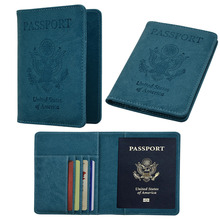 United Kingdom United States emblem pu leather card package travel identity card credit passport carf file cover card holder(China)
