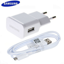 SAMSUNG Original 2A Wall Travel Charger + 1M USB Data Cable for Samsung Galaxy S3 S4 Alpha Note 2 S4 Mini