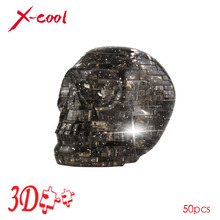 XC9056A 3D Crystal Puzzle with Flash Light DIY Model Buliding Toy for Children Home Decoration - Skull Free shipping