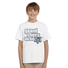 Mrkong 100% Cotton Grand Theft Auto 5 T Shirt Short Sleeve Children T Shirts Boys Girls T-shirt Korean Kids Wear Clothing China