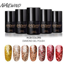 NAILWIND 7ML Black Bottle Diamond Series Goddess W01-29 Colors Nail Polish Gel UV LED Lamp Insulation Semi-permanent Nail Art(China)