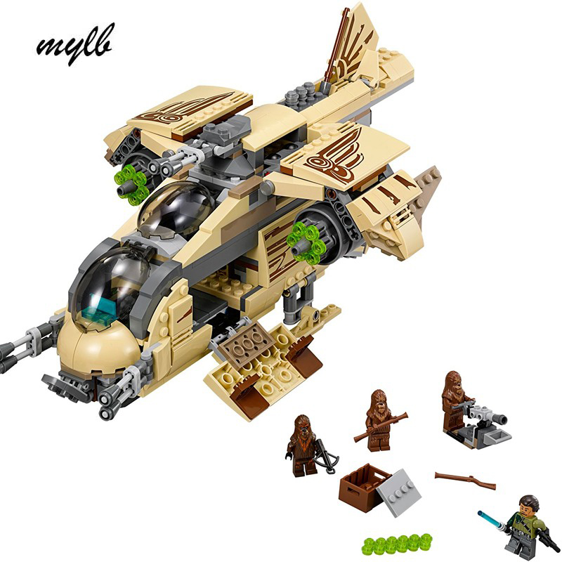 mylb New 569pcs Star Wars Wookiee Gunship Blocks Bricks Toys Set Boy Game Plane Weapon Compatible with DIY<br>