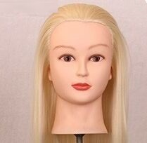 "20"" Long Golden Hair Mannequin Head For Wigs With Stand Female Mannequin Head Hairstyles Cosmetology Display Wig Holder(China)"